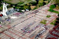 Camagüey rindió homenaje a Los Cinco en la Plaza Ignacio Agramonte