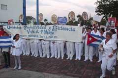Desfile en Camagüey por el Primero de Mayo: ¡Aquí estamos Revolución!